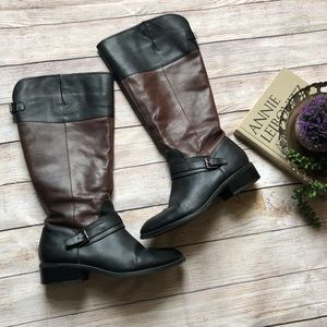 Ralph Lauren maritza leather riding boot two tone